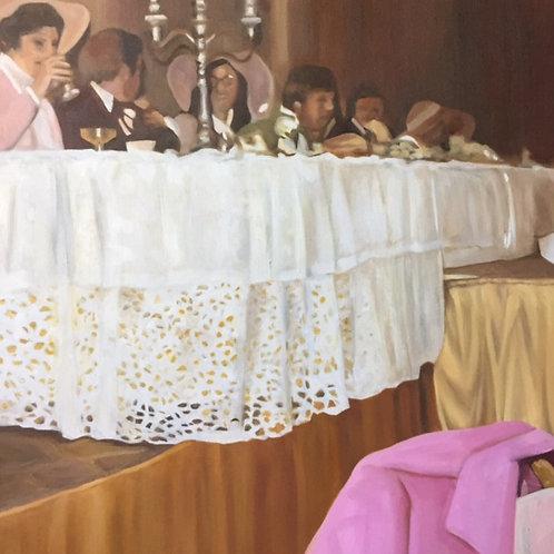 """The Wedding Party"", Original 20"" x 20"""
