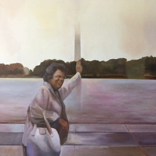 """Nonie's March on Washington (Foggy Day"", Original 20"" x 20"""