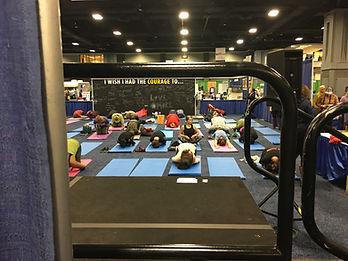 Teaching Yoga NBC 4 Health & Fitness Exp