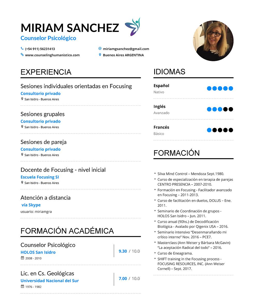Miriam Sanchez | CV