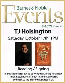 TJ Hoisington book signing Barnes and Noble