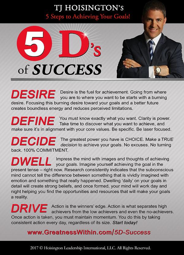 5 Ds of Success