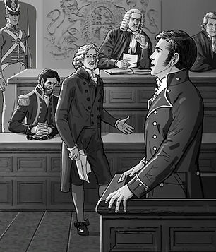 Ernest Robinson testifying against Captain Charlie