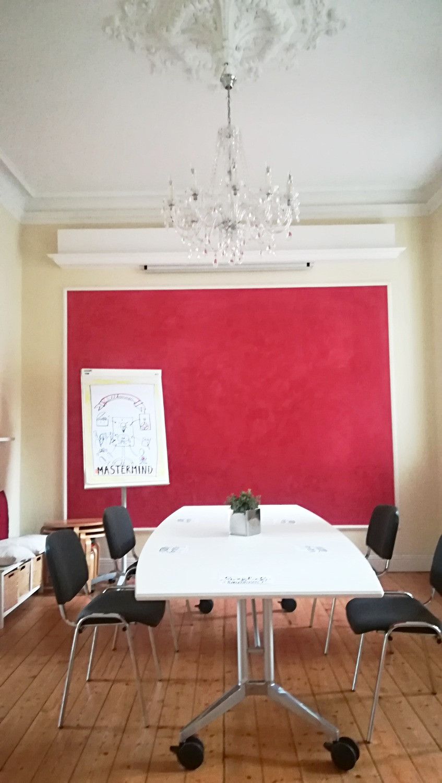 Der Lieblingsraum in der Lernvilla hier mal für ein Mastermind-Treffen aufgebaut