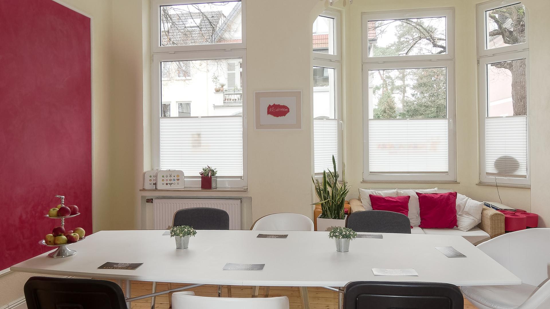 Seminarraum mieten B, Meetingraum mieten für Training, Coaching, Seminar, Workshop, Meeting bei relaxolution Bonn