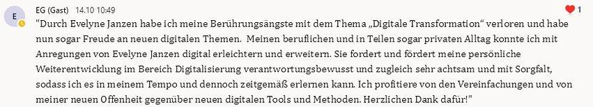 Empfehlung von Ellaine Grotjohann für WertPlus Evelyne Janzen