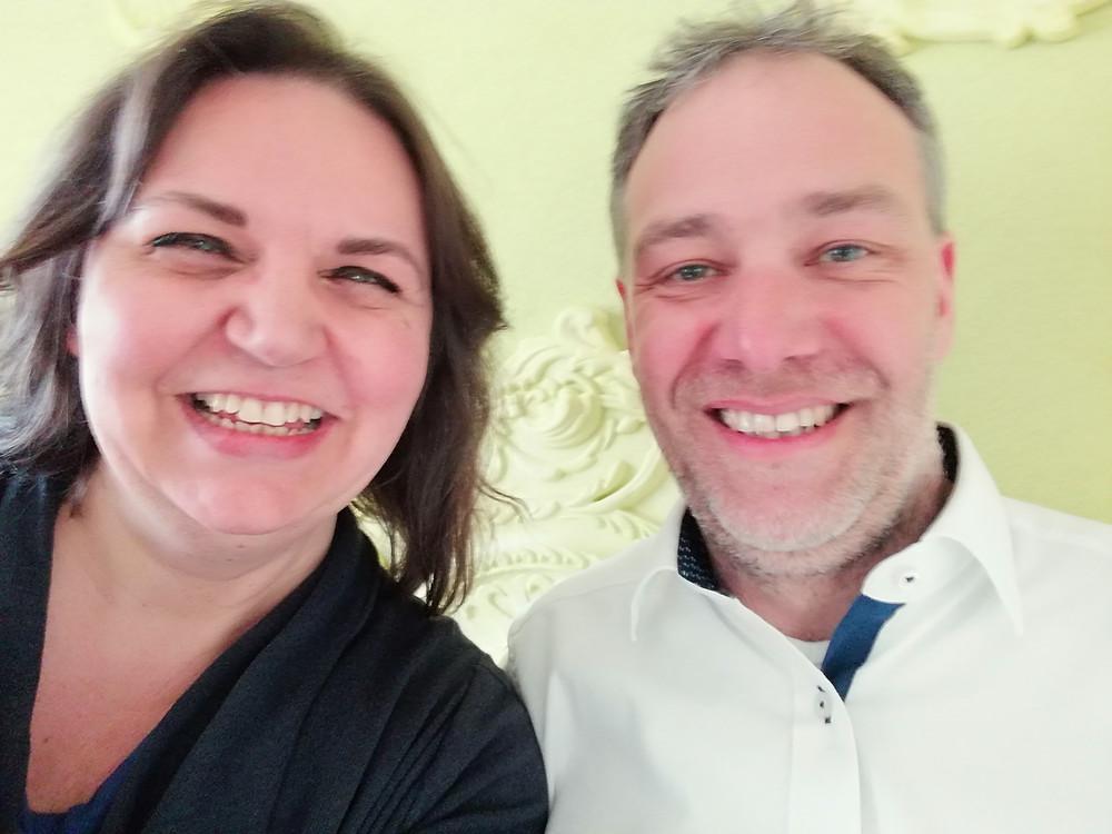 Marcus Nebel und Evelyne Janzen (Founder von Seminar(t)raum) in der Lernvilla Bonn