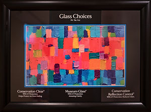 Custom Picture Framing, Glazing