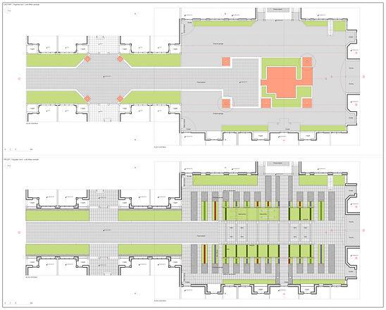 Motobécane - Allé centrale et Place - Existant et Projet