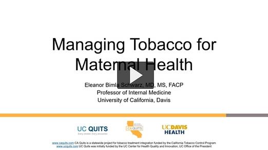 Module #8-Managing Tobacco in Maternal H