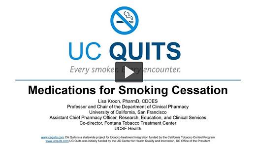 Module #4-Medications for Smoking Cessat