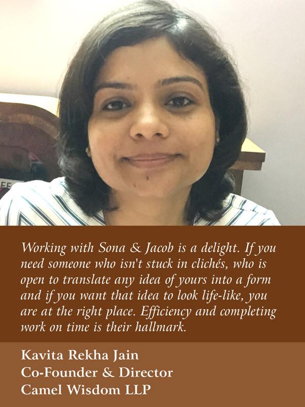 Kavitha Rekha Jain, Co-Founder & Director, Camel Wisdom