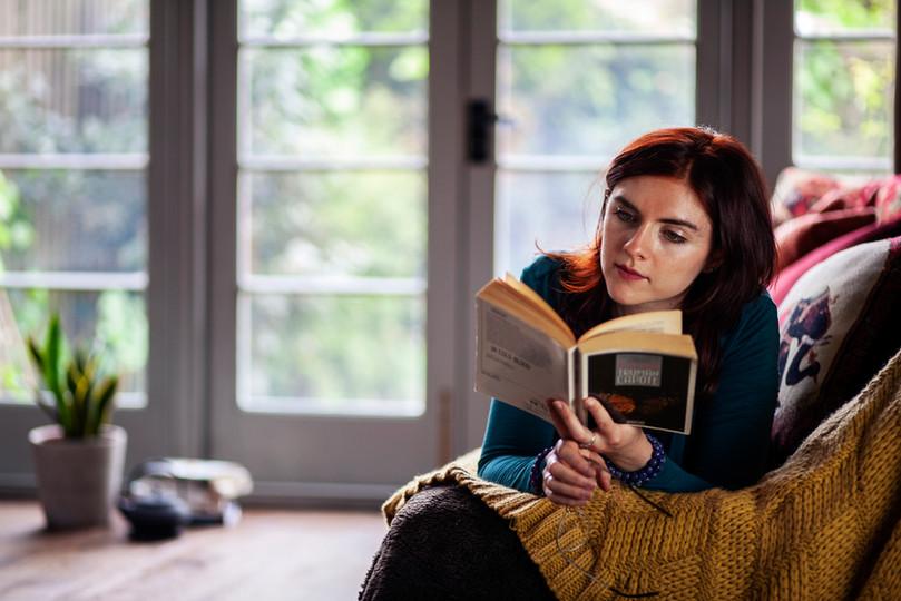 Gabriella Tavini - Reading On Couch