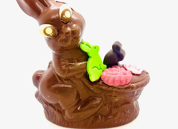 Lapine et son panier chocolat noir