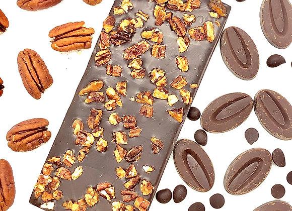 Tablette chocolat noir au noix de Pécan