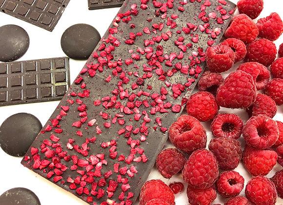 Tablette chocolat noir framboise