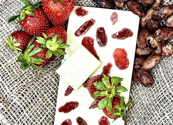 Tablette chocolat blanc Fraises