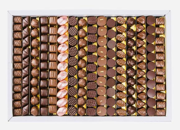 """Plateau de Dégustation """"Luxe"""", Assortiment 175 de chocolats Noir et Lait"""