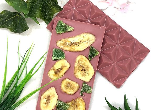 Tablette de chocolat RUBY banane kiwi