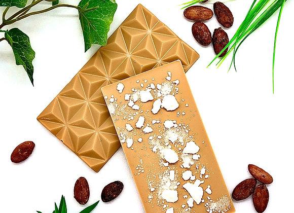 Tablette chocolat blanc dulcey à la meringue