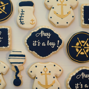 Ahoy It's a Boy Cookies