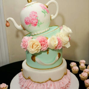 Stacked Tea Party Cake