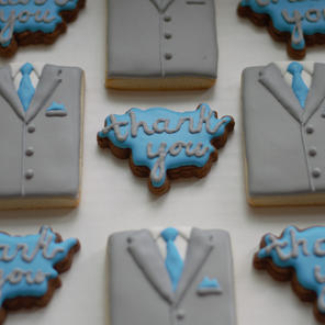 Suits & Thank You Cookies