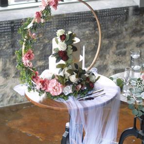 Floral Hoop Cake