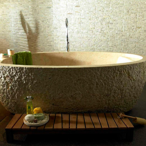 Castello Pearl luxury freestanding composite and pure stone baths