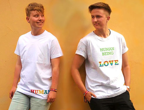 human being clothing limited edition pride shirts