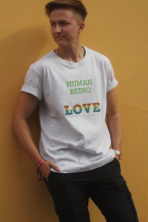 Human Being Love Pride T-Shirt (grå)
