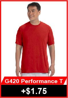 Gildan 420 Performance Short Sleeve