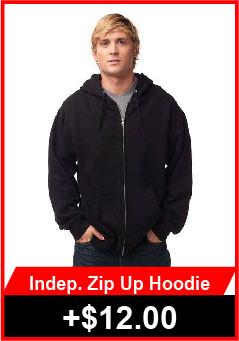 Independent Zip Up Hoodies