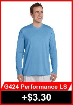 Gildan 424 Performance Long Sleeve