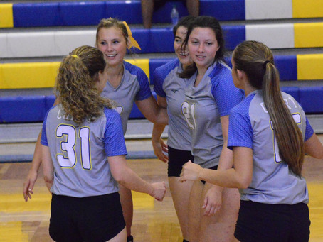 Two teams in volleyball top ten