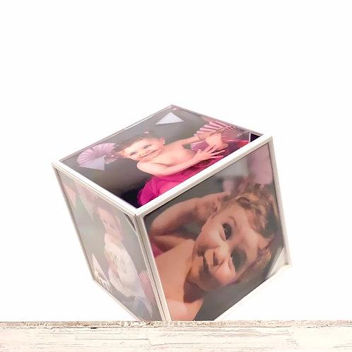 Cubo Giratório c/ 6 Fotos incluídas 10x10cm