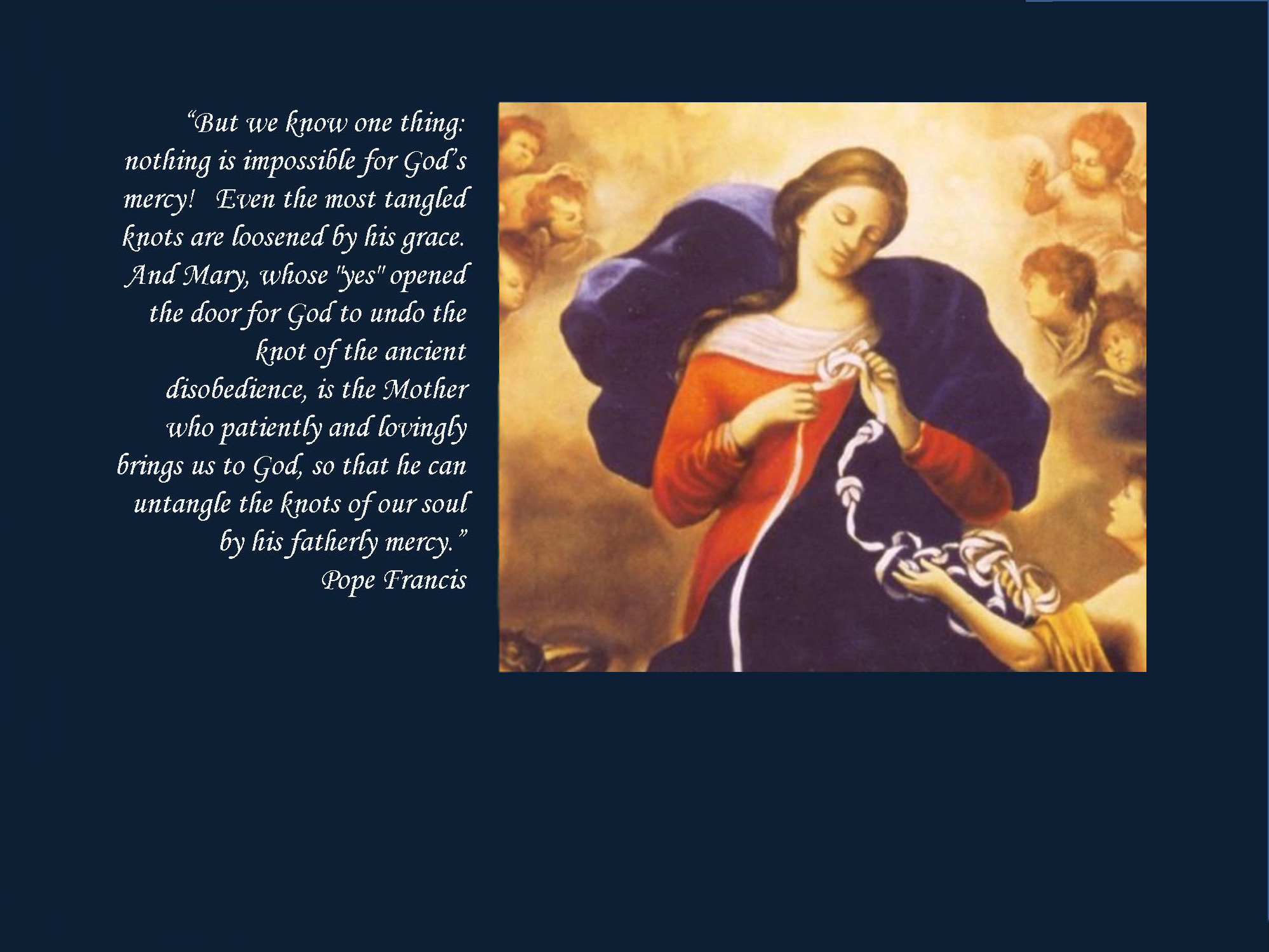 Mary Untier of Knots