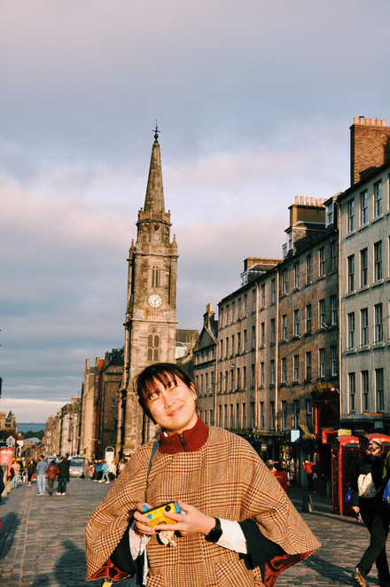 golden hour on the royal mile.
