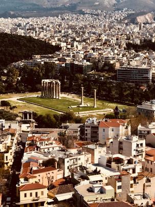 the roman agora in athens.