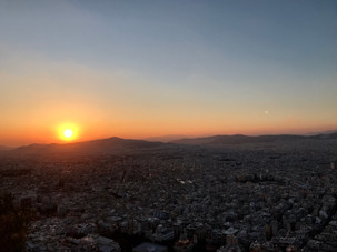 sunset from the lycabettus hill.