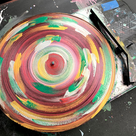 Painted recycled record