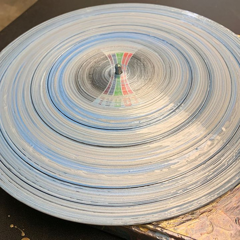 Freshly Painted Recycled Record