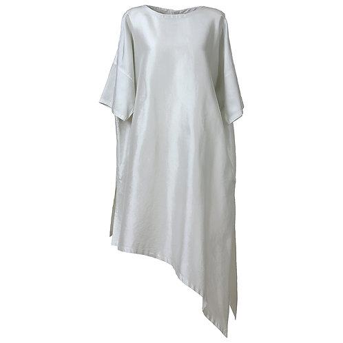★半袖裾斜めチュニック