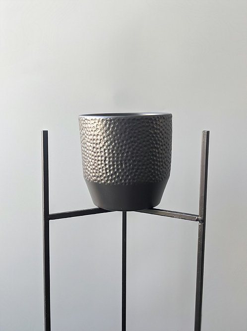 Plant Pot 'Victor' Charcoal 14cm