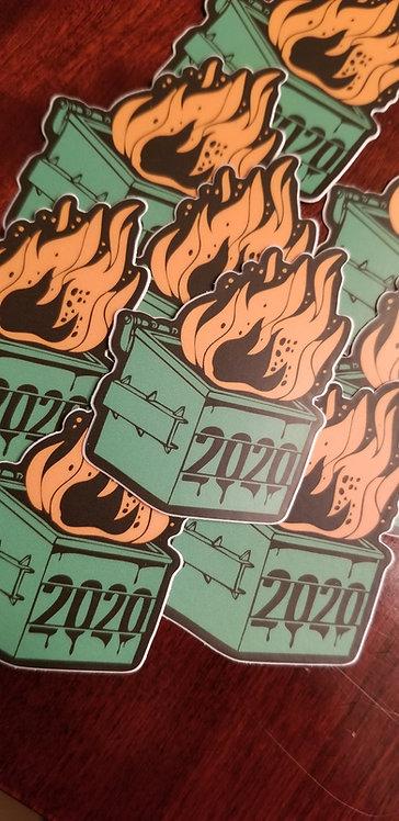 2020 Flaming Dumpster Sticker 2 pack