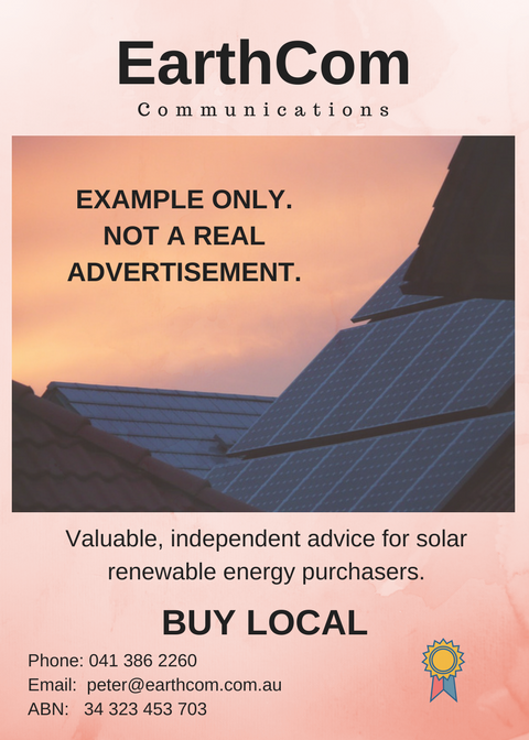 Solar Advert (Example Only)