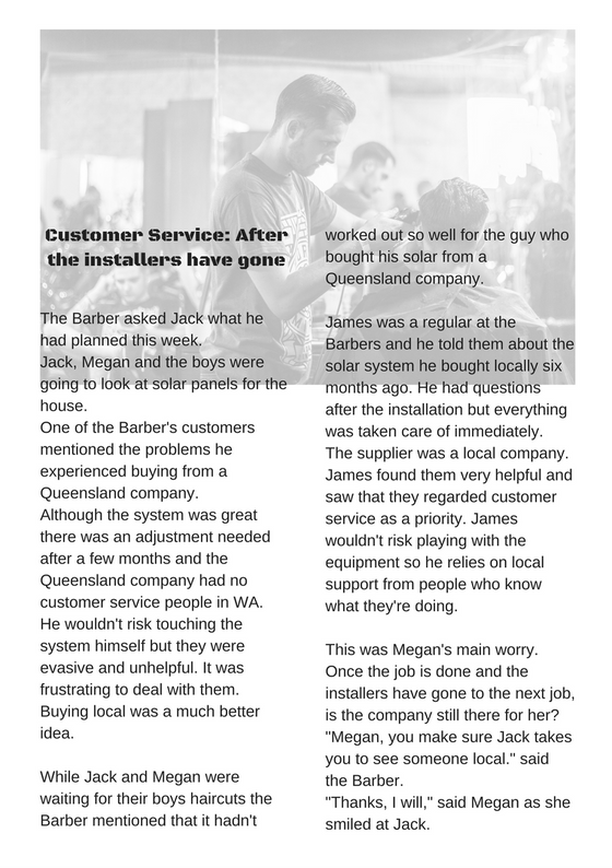 Customer Service - After the Installers have gone.