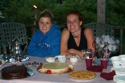 Past Lead Cooks Kristen and Alison