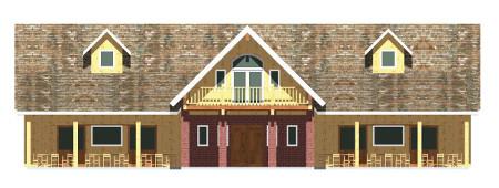 Custom log barn