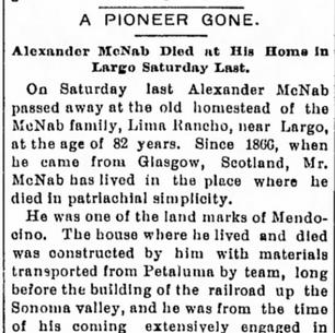 URP APRIL 12 1901 ALEXANDER MCNAB OBITUARY